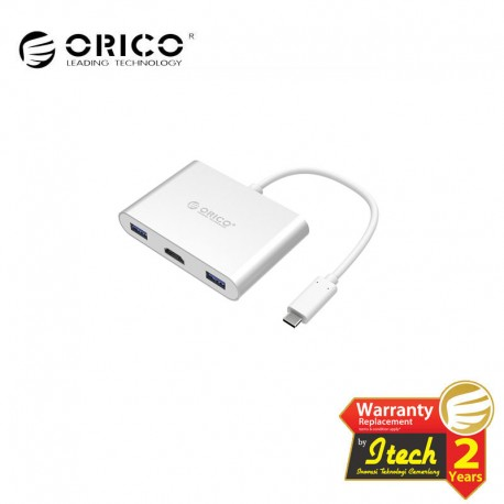 ORICO RCH3A Aluminum HUB with Type-C to HDMI Converter