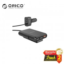 ORICO UCP-5P 52W 5 Port (1 QC3.0 Port) with Extension Cord Car Charger