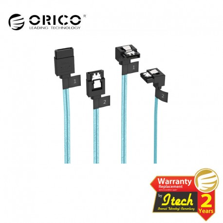 ORICO - CPD-7P6G-BW902S - 2 Pack SATA III Cable with Locking Latch, 6 Gbps, 1.6Ft / 0.5M & 1.8Ft / 0.55M