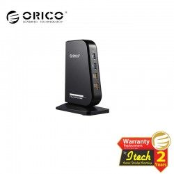 ORICO DH7C2 7-Port USB3.0 Combo HUB with 2-Port Charging Function - Black