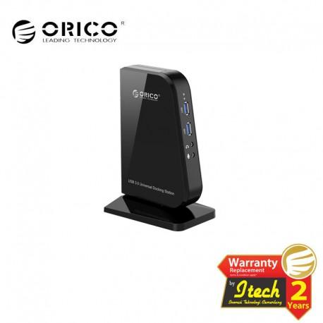 ORICO U3HV-S2 USB3.0&USB2.0 Gigabit Ethernet DVI Docking Station of Laptop and Surface for Windows & Mac OS