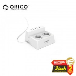 ORICO ODC-2A5U-EU Surge Protector Strip 2-Outlet with 5 USB SuperCharging Ports