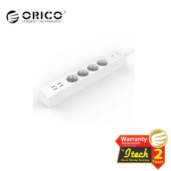 ORICO OSC-4A4U-EU Surge Protector Strip 4-Outlet with 4 USB SuperCharging Ports