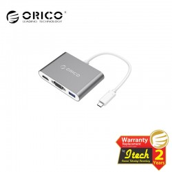 ORICO RCHV Aluminum HUB with Type-C to VGA/HDMI Converter