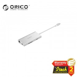 ORICO CLH-W2 Aluminum Alloy Type-C to HDMI / Type-C Charging / USB3.0 * 3 / SD / TF / RJ45 Docking Station