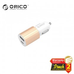 ORICO UCF-2U USB Type C Car Charger with Type-C and USB-A Outputs