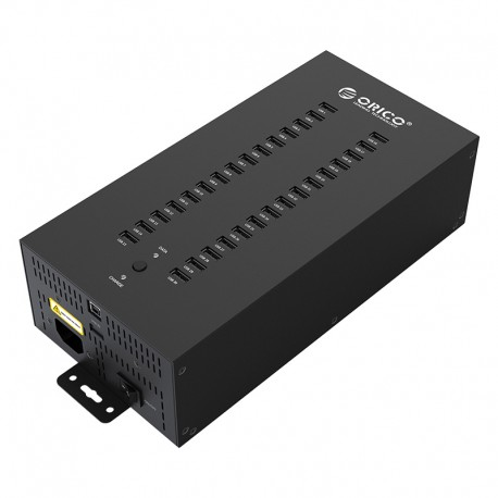 ORICO IH30P Steel 30 Port USB2.0 Industrial HUB with Data Cable and Removable Hanger