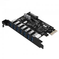 ORICO PVU3-7U-V1 7 Port USB3.0 PCI-E Expansion Card with Dual Chip
